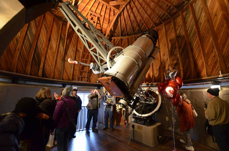 The Pluto Discovery Telescope is open daily for public tours.