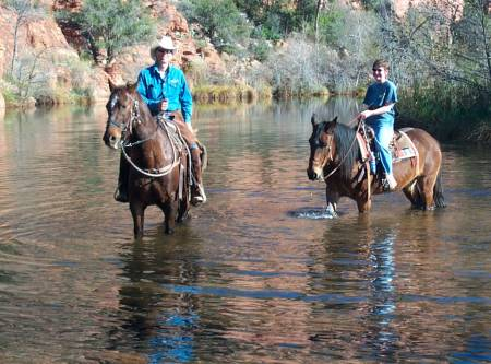 Trailhorseadv. - creek ride 1