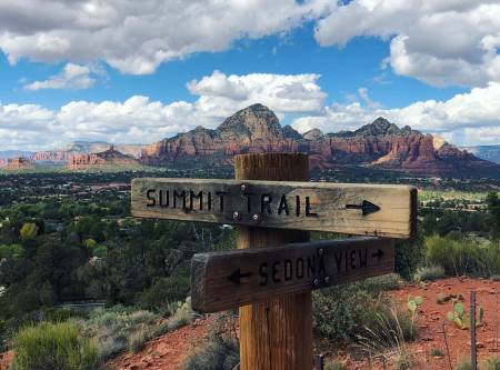 Enjoy the 400 plus miles of hiking and biking trails in Sedona
