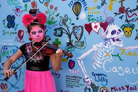 Annual events visit sedona for Dia de los muertos mural