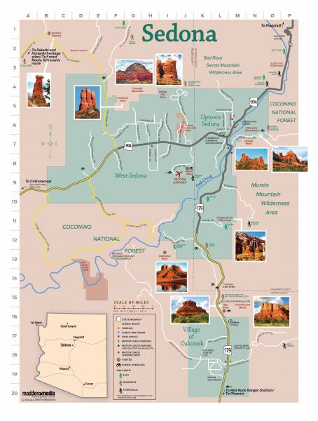 Map Of Arizona Towns And Cities.Map Of Sedona Az Visit Sedona