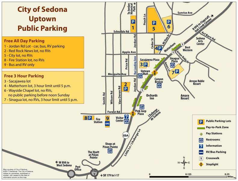 Map Of Arizona Including Sedona.Map Of Sedona Az Visit Sedona